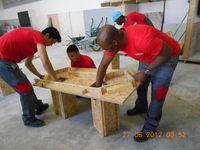 alumnos haciendo prácticas Leonardo en Tarbes